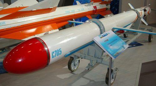 Dengan jangkauan 75 Km, C-705 masuk dalam kategori rudal jelajah anti kapal