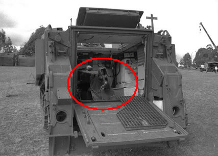 Heavy internal winch di M113 A1-B-Rec.