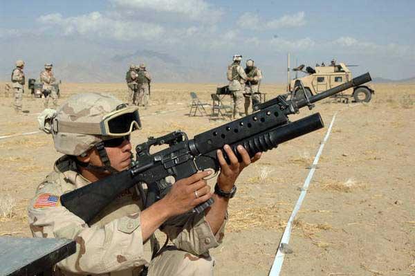 Posisi penembakan M-203.