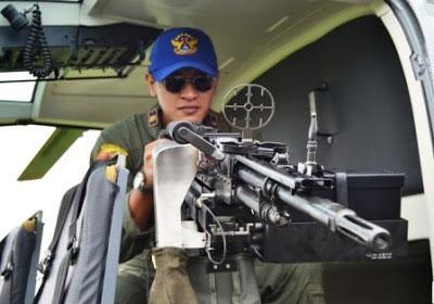 FN MAG dipasang sebagai door gun di heli NBO-105 TNI AL.