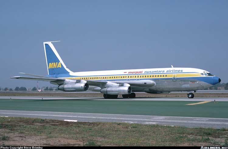 Boeing 707 Merpati Nusantara Airlines.
