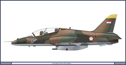 Warna Hawk MK.53 saat digunakan untuk peran Latih Lanjut.