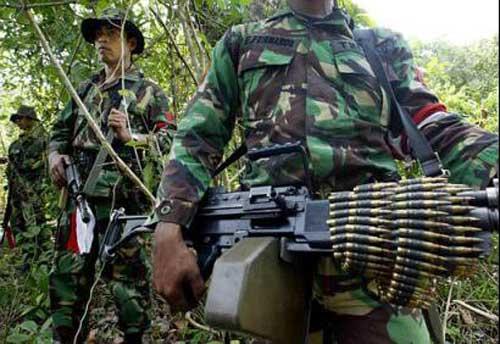 FN Minimi dalam operasi militer di Aceh.