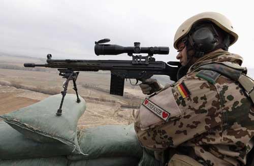 Serdadu Jerman dengan G3.