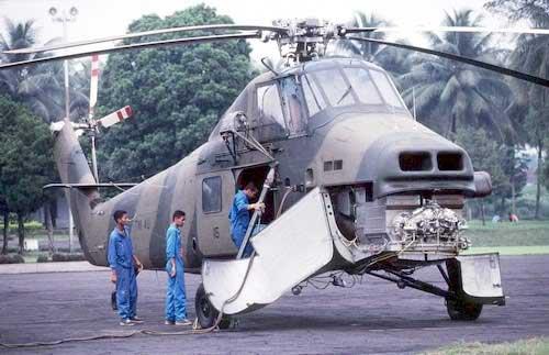 S-58T dalam perawatan.