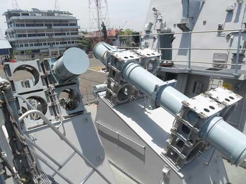 Peluncur rudal MM40 Block 2 di Bung Tomo Class.