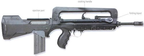 Konfigurasi cooking handle (pengokang) dan ejection port.