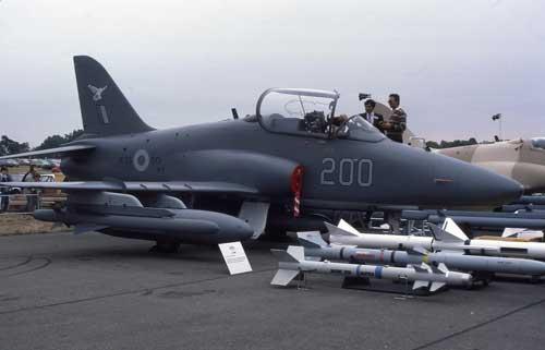 Beberapa varian senjata Hawk 200.