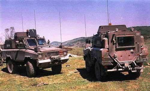 Mamba MK2 SWB ikut andil dalam misi SFOR di Bosnia.
