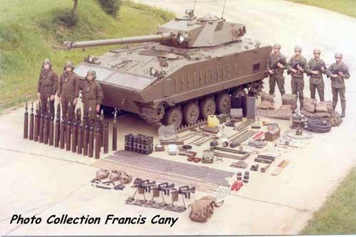 Konfigurasi awak dan pasukan pada AMX-10 PAC 90.