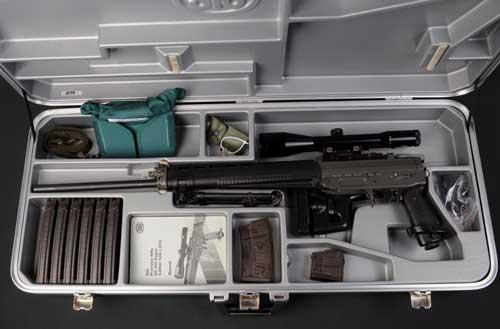 Briefcase SIG 550 dengan paket senjata lengkap.