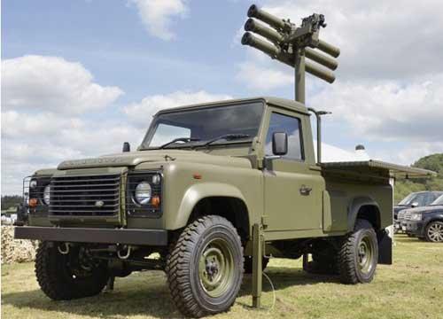 Starstreak dengan platform jip Land Rover Defender jadi salah satu tipe yang akan digunakan TNI AD