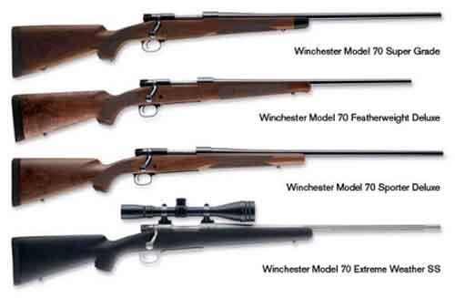 Beragam varian Winchester M-70.