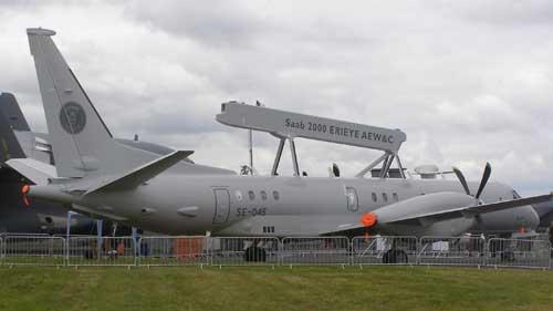 Saab menawarkan stem radar airborne Erieye dalam paket integrasi pertahanan udara.