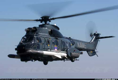AS 332 Super Puma dan AM-39 Exocet AL Chile.