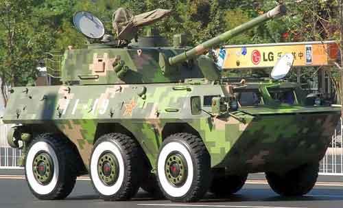 WMZ-551 berperan sebagai fire support vehicle dengan meriam kaliber 100 mm.