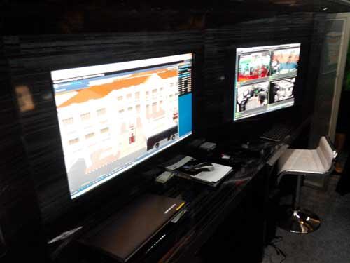 Ruang kendali drone (GCS) yang ada di dalam MCCV.