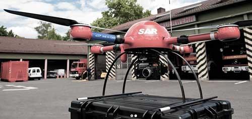 Tim SAR dari Damkar di Jerman juga menggunakan drone MD4-1000.