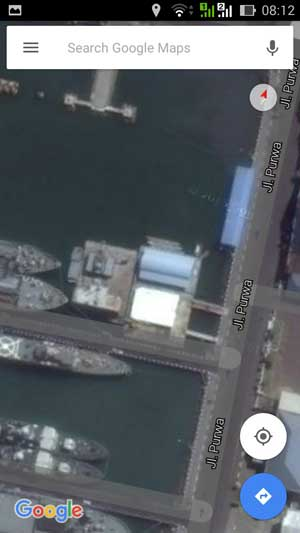 Lokasi dermaga kapal selam Type 209 (Cakra Class)