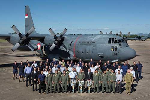 Seremoni serah terima C-130H Hercules A-1334 dari RAAF ke TNI AU pada 8 Februari 2016.