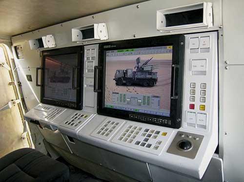 Konsol monitor kendali Pantsir S-1