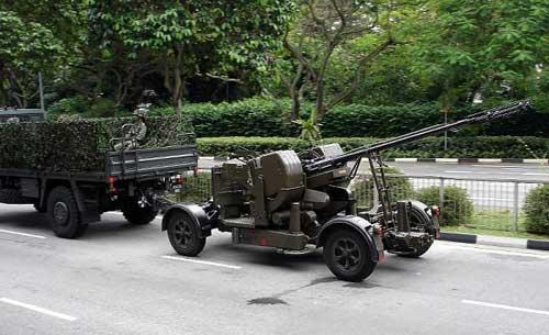 Bila Indonesia baru dalam tahap menjajaki, maka Singapura sudah cukup lama menggunakan Oerlikon GDF.
