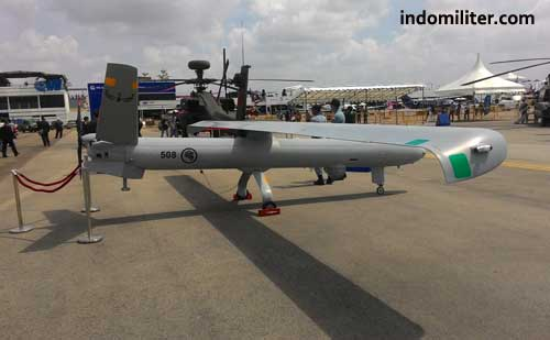 UAV Hermes 450 di Singapore Airshow 2016.