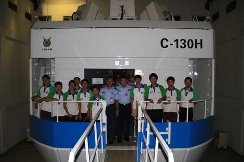 Simulator C-130H Hercules TNI AU yang kini eksisting di Lanud Halim Perdanakusuma.