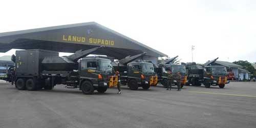 Baterai Skyshield juga ditempatkan di Lanud Supadio, Pontianak, Kalimantan Barat.
