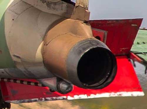 Tail pipe extension, diadopsoi dari gaya A-4 Skyhawk Israel.