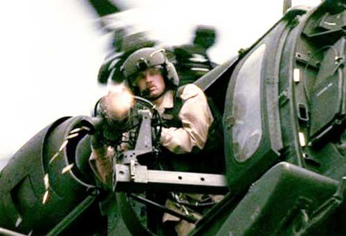 """M134D beraksi dalam film """"Black Hawk Down."""""""