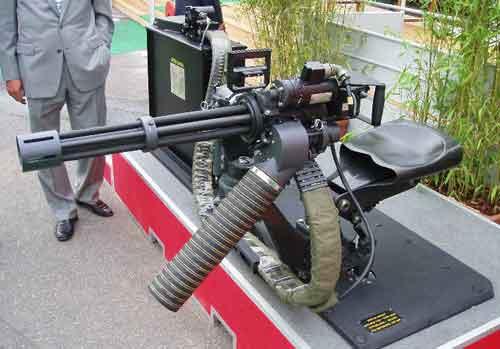 OTO Melara pun menawarkan model dudukan M134D di door gun helikopter.