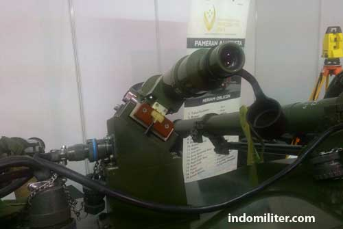 Tampilan alat pembidik sasaran pada QW-3 twin launcher.