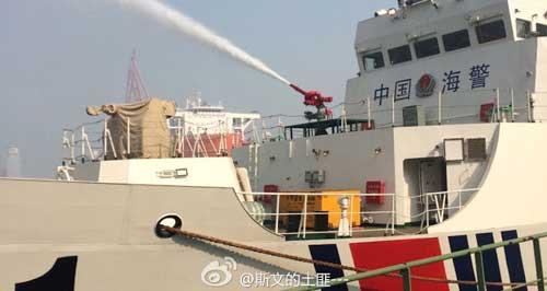 Water canon pada Haijing 3303