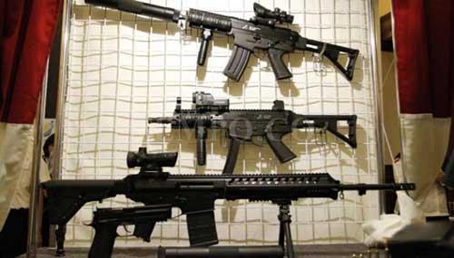 Empat produk terbaru yang baru saja diluncurkan PT Pindad. PM-3 berada nomer dua dari atas.