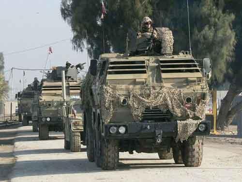 Tatrapan Slovakia saat bertugas di Irak