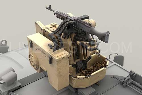 M153 Protector dengan senapan mesin M240 (FN MAG) 7,62mm.