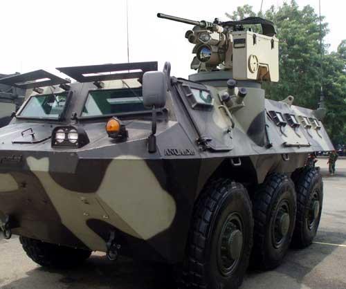 Ilustrasi Anoa 6x6 dengan RCWS M153 Protector.