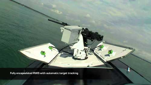 Melaju dengan kecepatan tinggi menimbulkan impact besar, jika dipasangi RCWS harus dilengkapi kubah pelindung.