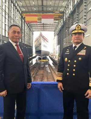 Menteri Pertahanan RI Ryamizard Ryacudu dan Kepala Staf Angkatan Laut (KSAL) Laksamana TNI Ade Supandi