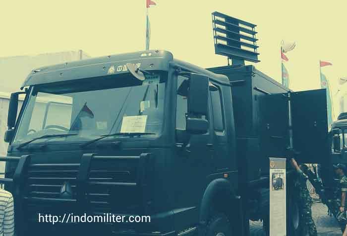 Radar AS901A 3D di platfom truk Tiema XC230 4×4