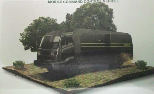 MCCV dalam platform truk. Desainnya mirip dengan truk Ganila milik Korps Marinir TNI AL.