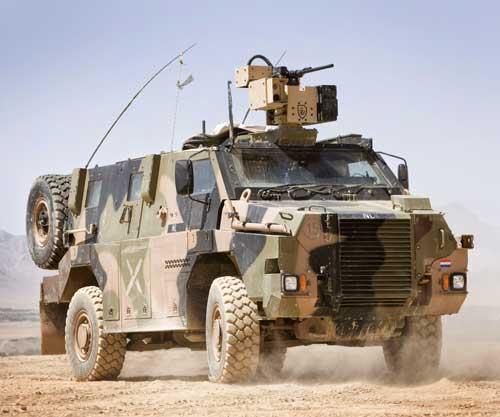 Bushmaster dengan RCWS (Remote Control Weapon System).