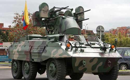 M8 AD Kolombia dengan kubah PSU berisi empat SMB 12,7 mm.