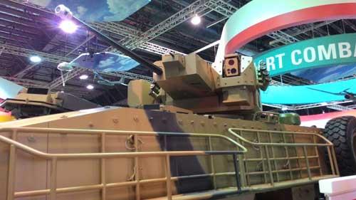 Kanon MK44 Bushmaster II kaliber 30 mm di Terrex IFV.